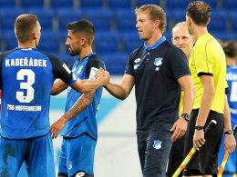 Auf ihn ist Verlass: Trainer Julian Nagelsmann ist zufrieden mit Pavel Kaderabek.