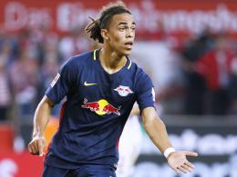 Wartet noch auf den ersten Bundesligatreffer: Leipzigs Stürmer Yussuf Poulsen.