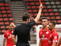 Halimi: Rot in Liga drei, gesperrt auch in Liga eins