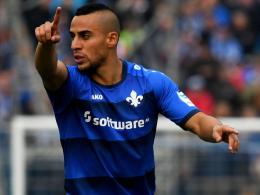"""""""Dosenöffner"""": Änis Ben-Hatira brachte Darmstadt gegen Wolfsburg auf die Siegerstraße."""