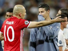 Kein Streitgrund: James bekommt nicht Robbens Nummer
