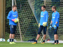 Kuriosum bei Hertha: Torwart-Trio bricht Training ab