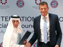 FC Bayern wirbt auf Ärmel für Flughafen in Katar