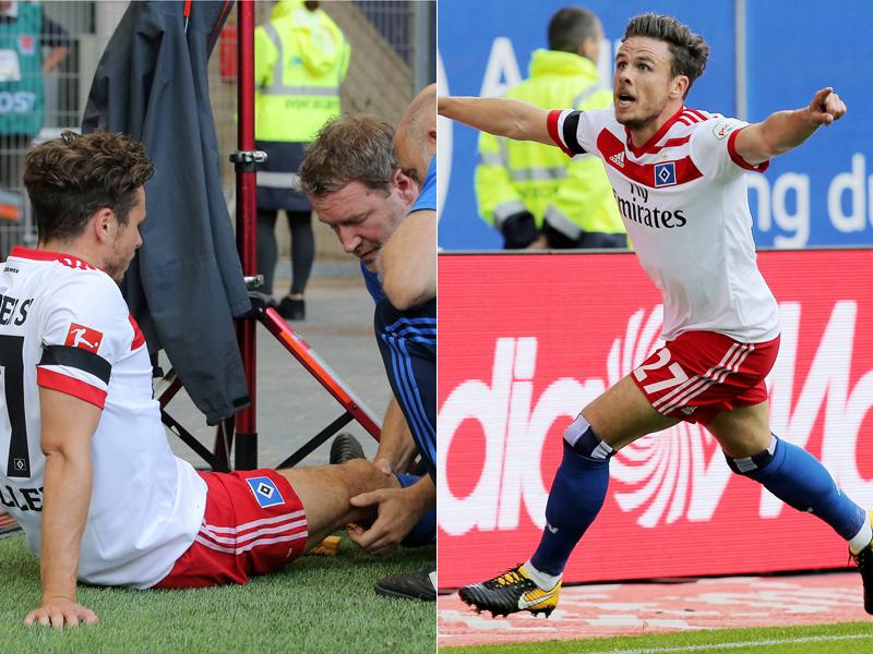 HSV-Star verletzt sich schwer beim Torjubel