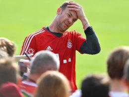Bayern mit Neuer nach Offenbach