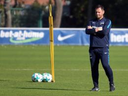 Hertha-Coach Dardai sucht den Knipser