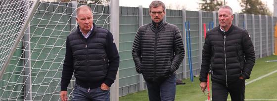 Stefan Reuter, Michael Henke und Paul Lambert (von links)