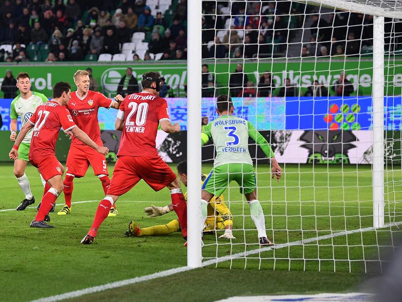Mario Gomez triftt in Wolfsburg