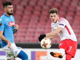 RB Leipzig dreht Rückstand in Neapel und startet mit einem Sieg in die Europa League