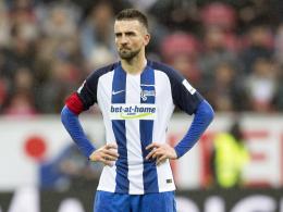Hertha: Schrecksekunde bei Kapitän Ibisevic