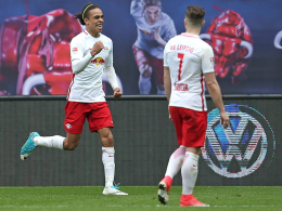 RB Leipzigs Stars im Hintergrund