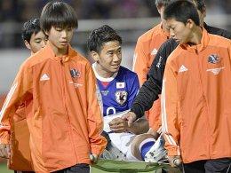 Schulter ausgekugelt: Längere Pause für Kagawa