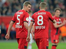 Leverkusen in Gladbach ohne Sven und Lars Bender