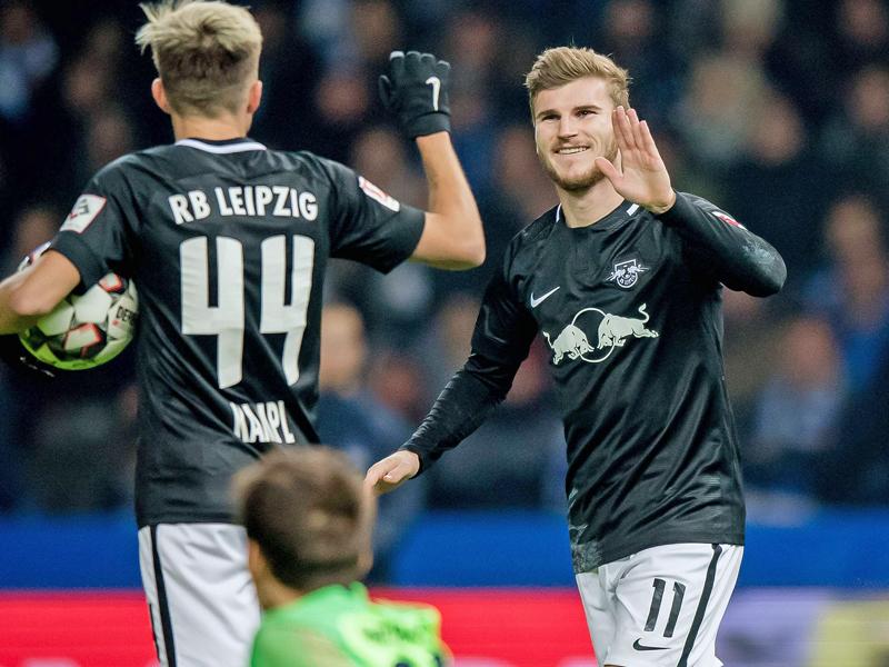 Leipzigs Werner machte gegen die Hertha zwei Tore.
