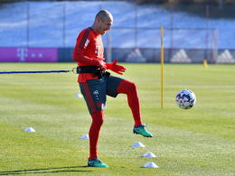 Lewandowski und Robben trainieren individuell