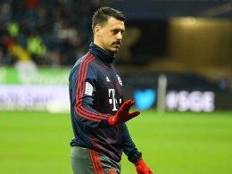Wagner vor dem Absprung bei den Bayern