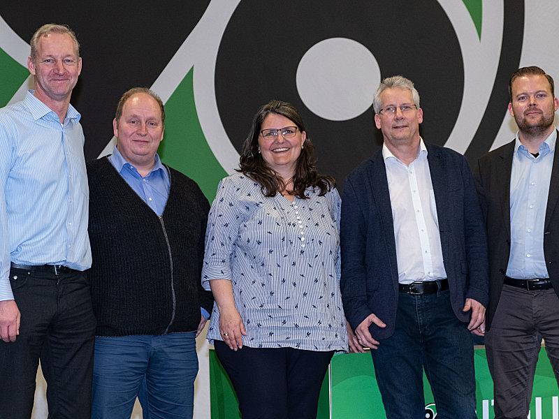 Sie wurden gewählt: Carsten Linke, Jens Boldt, Nathalie Wartmann, Ralf Nestler und Lasse Gutsch (v.l.).