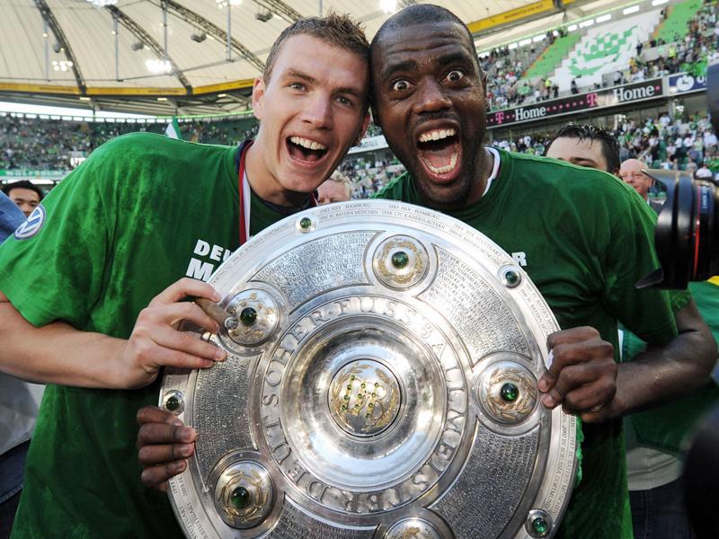 Das erfolgreichste Sturmduo der Bundesliga-Geschichte: Edin Dzeko (li.) und Grafite.