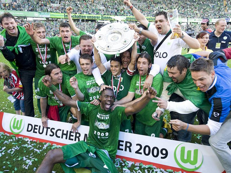 Am Ziel der Träume: Grafite feiert 2009 mit dem VfL Wolfsburg die Meisterschaft.