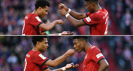 Serge Gnabry (links) und David Alaba