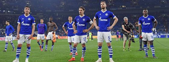 Schalke frustriert nach dem 2:5 gegen Hoffenheim.