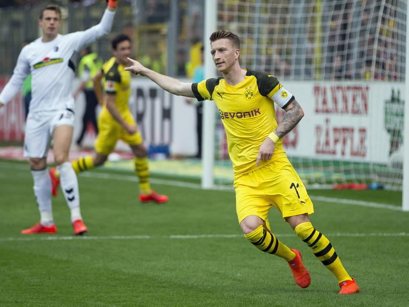 Zwei Vorlagen und ein Tor: Marco Reus war am Dortmunder Sieg in Freiburg maßgeblich am Sieg beteiligt.