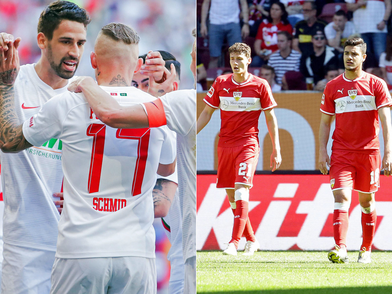 Augsburg jubelt, der VfB ist völlig konsterniert.