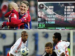 HSV gegen Bayern: 8 Spiele, 4:45 Tore