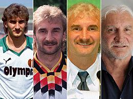 Viele Stationen, die Frisur bleibt: Rudi Völler