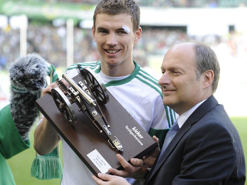 2010: Edin Dzeko (VfL Wolfsburg) - 22 Tore