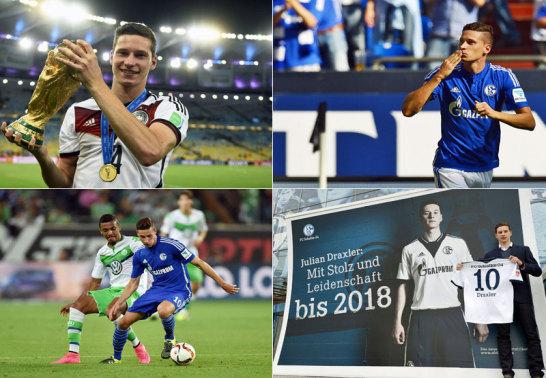 Draxler als Weltmeister, Torschütze, Neu-Wolfsburger und bei der Vertragsunterschrift 2013