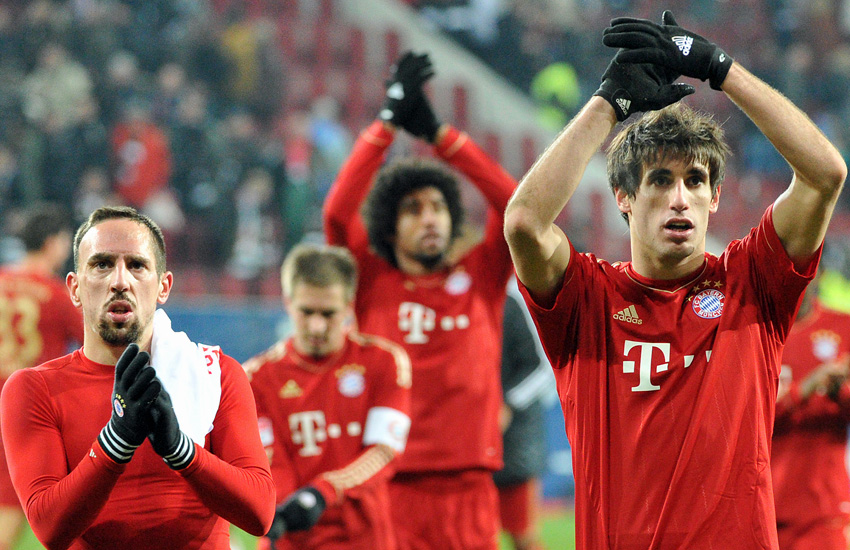 Franck Ribery (li.), Javi Martinez (re.)
