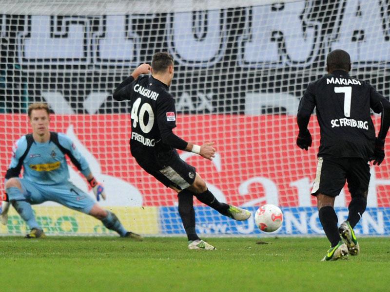 Drei Schuss, drei Treffer: Daniel Caligiuri (SC Freiburg)