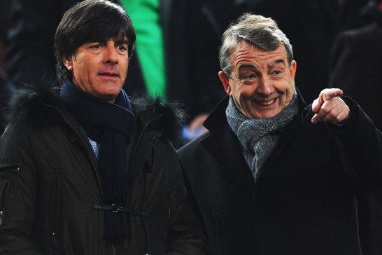 Bundestrainer Joachim L�w und DFB-Pr�sident Wolfgang Niersbach