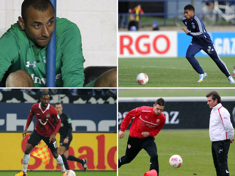 Gomes, Bastos, Djourou, Macheda (von links oben nach rechts unten)