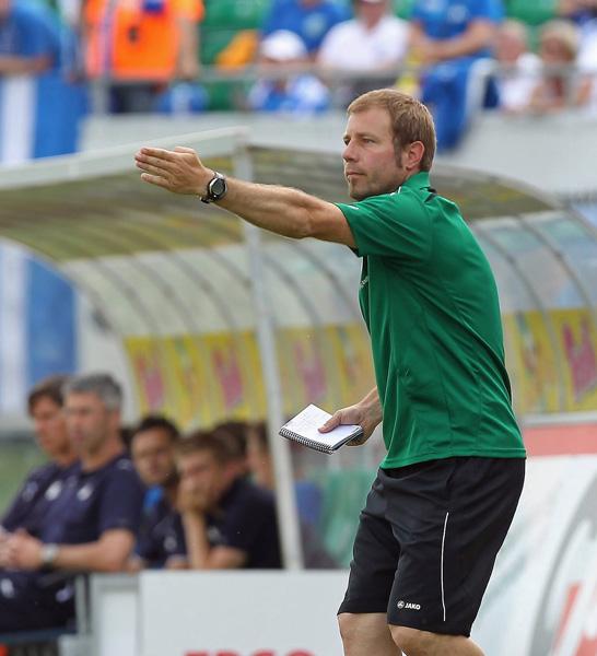Frank Kramer als Coach der SpVgg Greuther F�rth II