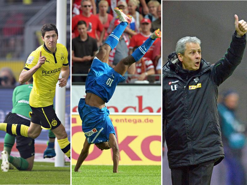 Robert Lewandowski, Ryan Babel und Lucien Favre