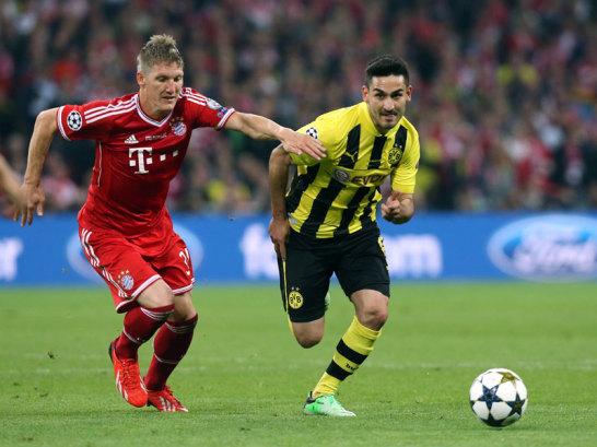 Bastian Schweinsteiger und Ilkay G�ndogan (re.)