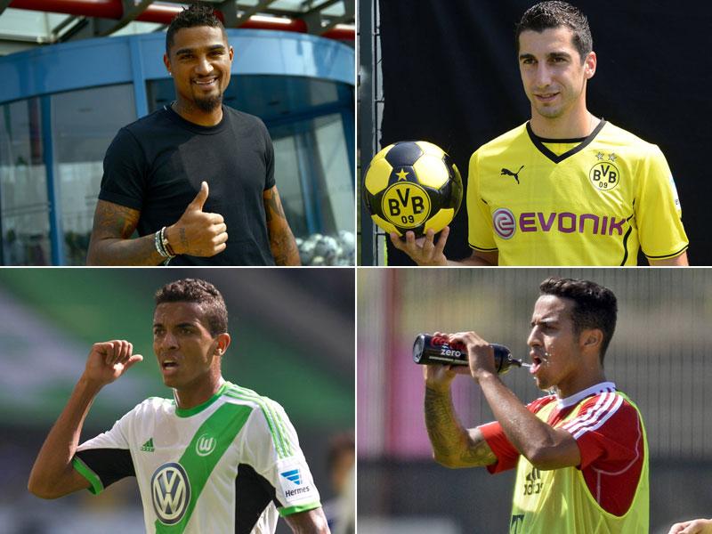 Boateng, Mkhitaryan, Gustavo, Thiago - das sind nur vier von mehreren Top-Wechseln der Bundesligisten in diesem Sommer. Die Highlights auf dem Transfermarkt in Bildern...