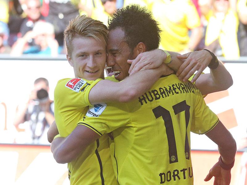 Marco Reus et Pierre-Emerick Aubameyang sous les couleurs du Borussia Dortmund