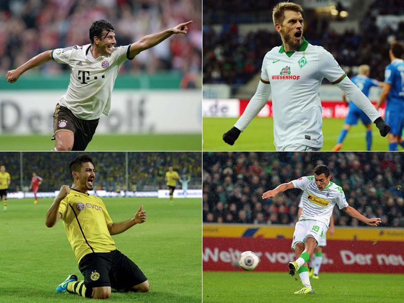 Pizarro, Hunt, Arango und Gündogan