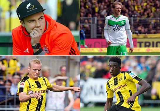 G�tze, Sch�rrle, Rode und Dembel�: Dortmund greift dieser Tage tief in die Tasche.