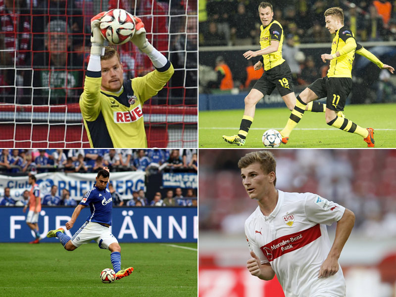 Timo Horn, Kevin Großkreutz, Marco Reus, Kaan Ayhan, Timo Werner