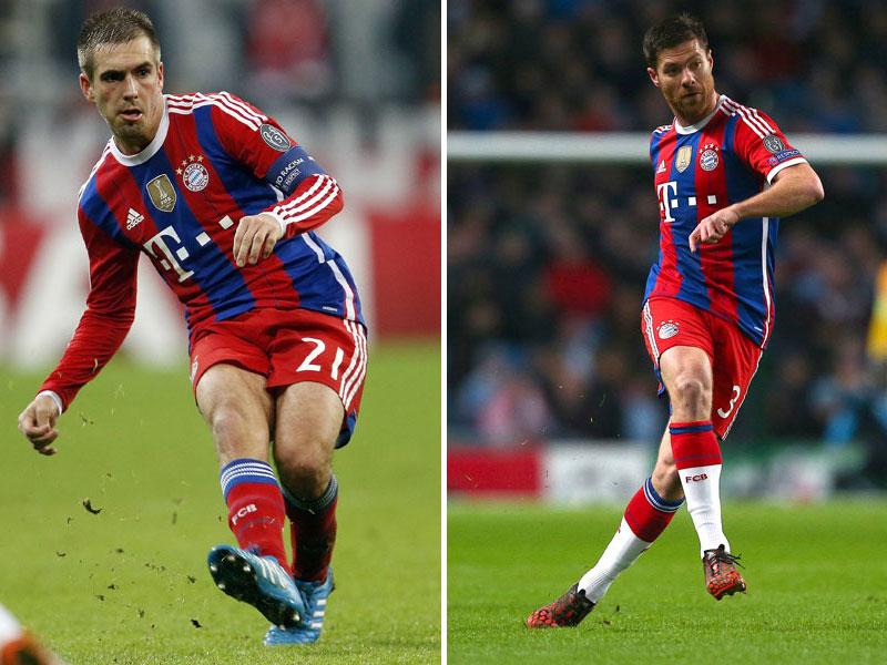 Philipp Lahm und Xabi Alonso
