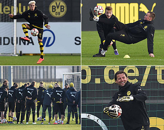Projekt Klassenerhalt, Kapitel eins: Borussia Dortmund hat nach dem Laktattest tags zuvor am Mittwoch den Trainingsbetrieb wieder aufgenommen. Viele lachten, manche konnten nur laufen, ein Neuzugang präsentierte sich erstmals. Bilder vom BVB-Trainingsplatz...