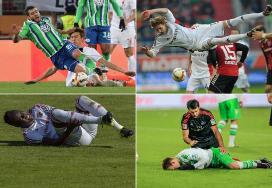 Die meistgefoulten Spieler der Bundesliga