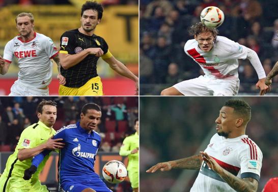 Mats Hummels, Jannik Vestergaard, Joel Matip und Jerome Boateng.