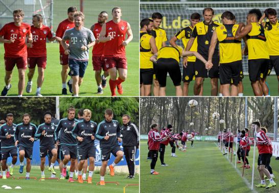 Trainingseindr�cke aus M�nchen, Dortmund, Schalke und K�ln.