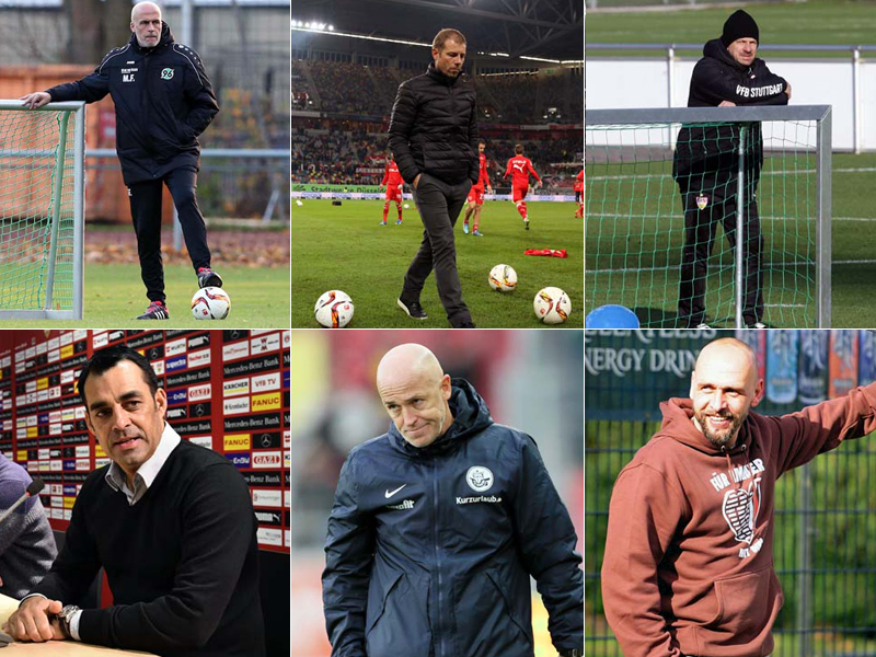Frontzeck, Kramer, Zorniger, Dutt, Baumann und Stanislawski