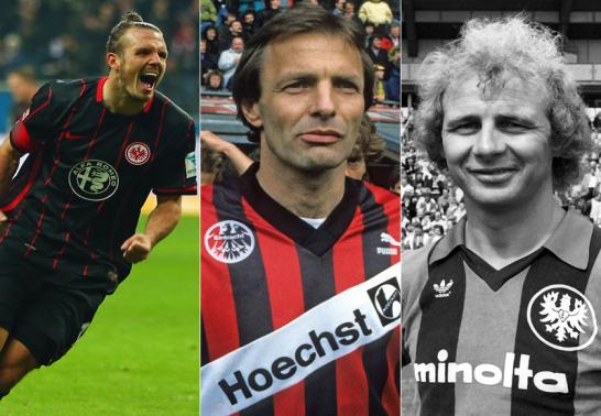 Alex Meier, Karl-Heinz K�rbel und Bernd H�lzenbein.